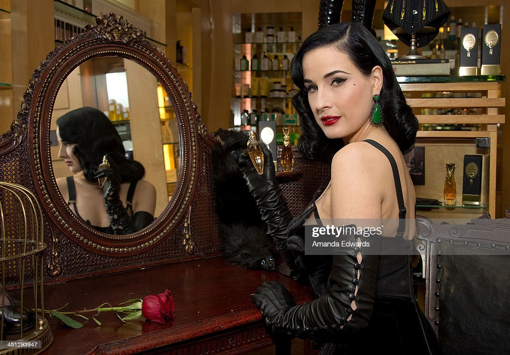 <a gi-track='captionPersonalityLinkClicked' href=/galleries/search?phrase=Dita+Von+Teese&family=editorial&specificpeople=210578 ng-click='$event.stopPropagation()'>Dita Von Teese</a> launches her 4th fragrance 'Erotique' at Fred Segal on November 21, 2013 in West Hollywood, California.