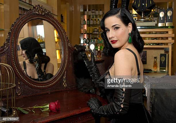 Dita Von Teese launches her 4th fragrance 'Erotique' at Fred Segal on November 21 2013 in West Hollywood California