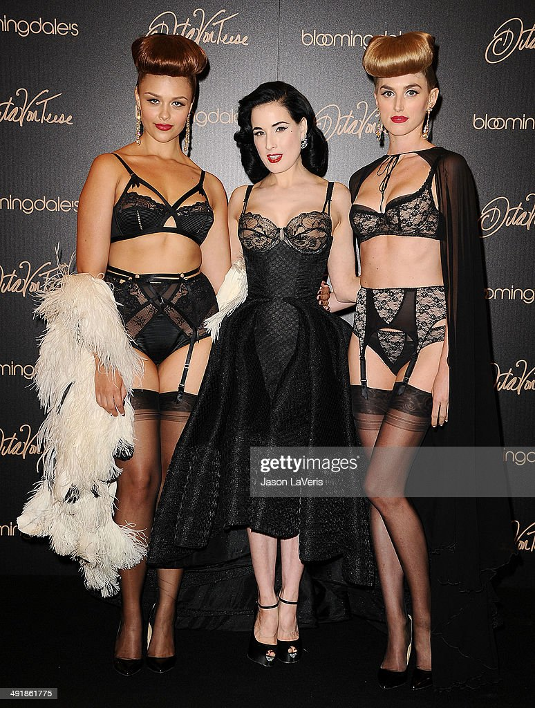 <a gi-track='captionPersonalityLinkClicked' href=/galleries/search?phrase=Dita+Von+Teese&family=editorial&specificpeople=210578 ng-click='$event.stopPropagation()'>Dita Von Teese</a> launches her lingerie collection at Bloomingdale's Century City on May 17, 2014 in Century City, California.