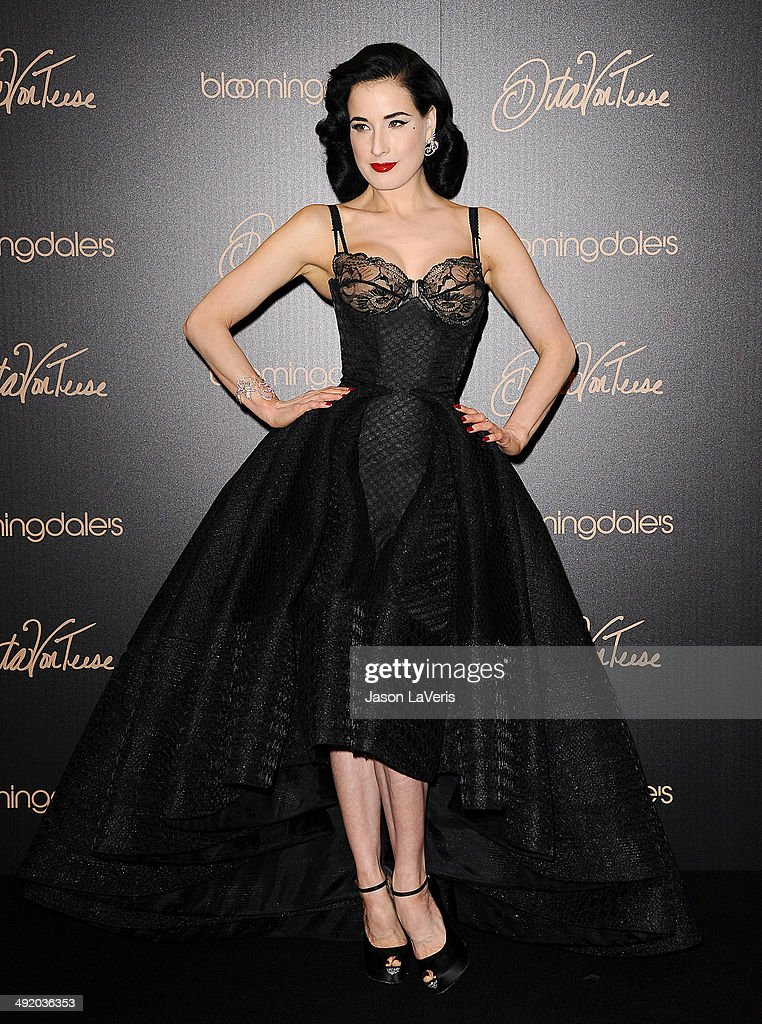 dita von teese launches her lingerie collection at bloomingdales getty images. Black Bedroom Furniture Sets. Home Design Ideas