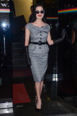 Dita Von Teese leaves the 'Wendy Williams Show' taping at Chelsea Studios on October 16 2012 in New York City