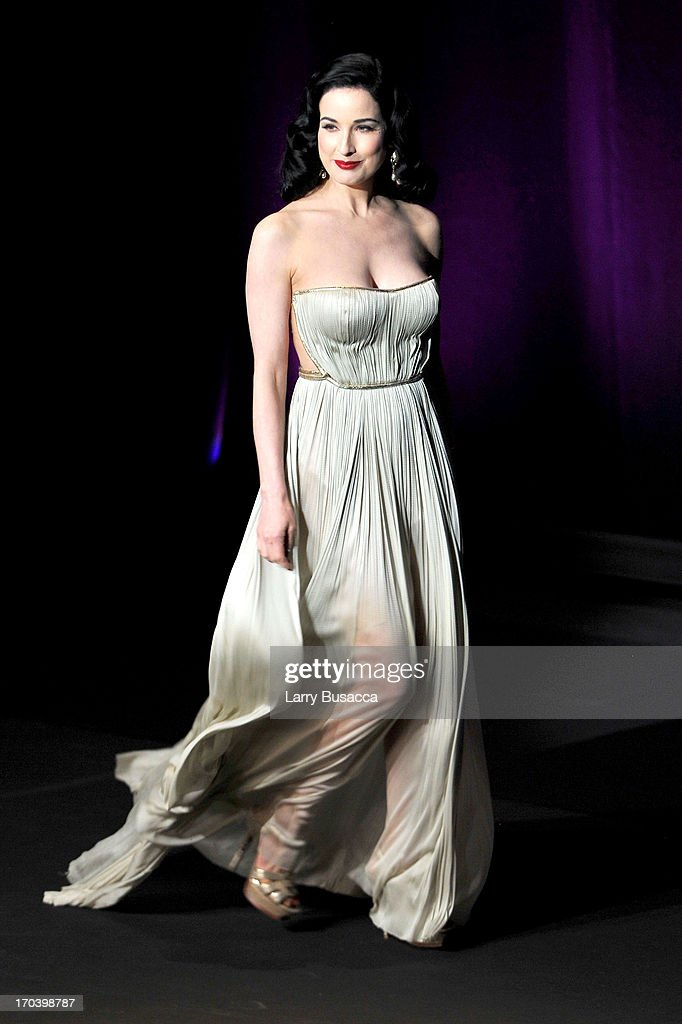 Dita Von Teese onstage at the 2013 Fragrance Foundation Awards at Alice Tully Hall at Lincoln Center on June 12, 2013 in New York City.