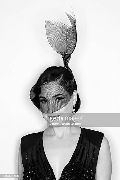 Dita Von Teese poses for a portrait during amfAR Milano 2016 at La Permanente on September 24 2016 in Milan Italy