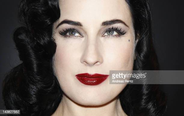 Dita von Teese poses for photographers at the Duftstars Awards 2012 at Tempodrom on May 4 2012 in Berlin Germany
