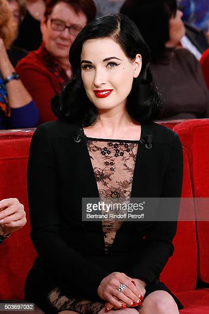 Dita Von Teese presents her futur show 'Dita's Crazy Show' which will be performed at 'Crazy Horse' from 15 to 30 March 2016 during the 'Vivement...
