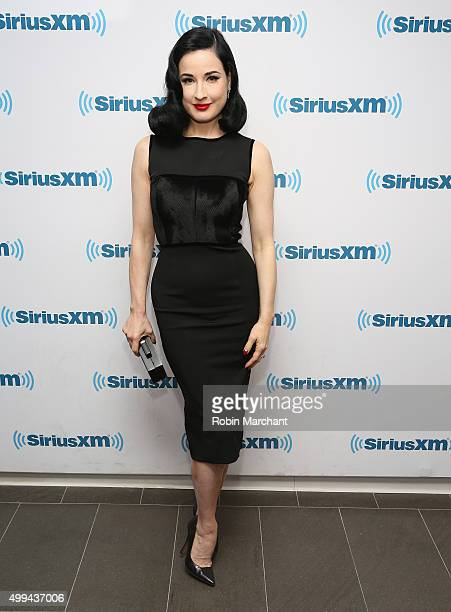 Dita Von Teese visits at SiriusXM Studios on December 1 2015 in New York City