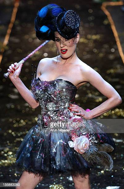 Dita Von Teese wearing Heatherette Fall 2004 Collection