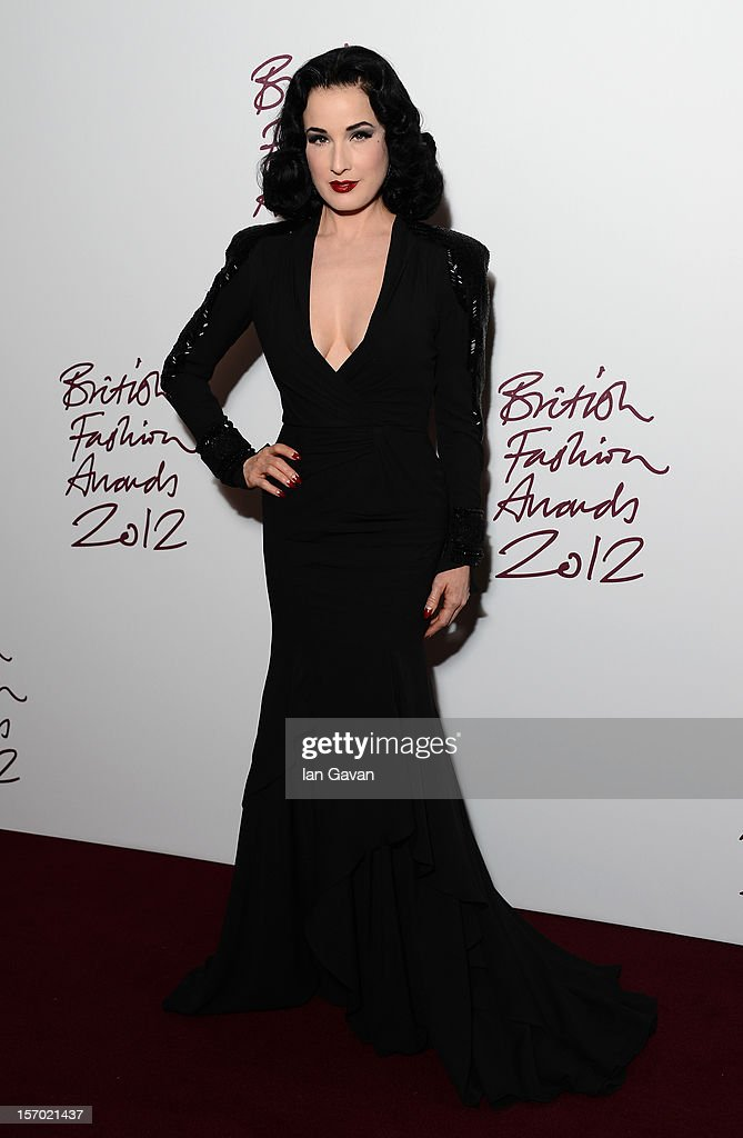 Dita Von Tesse attends the British Fashion Awards 2012 at The Savoy Hotel on November 27, 2012 in London, England.