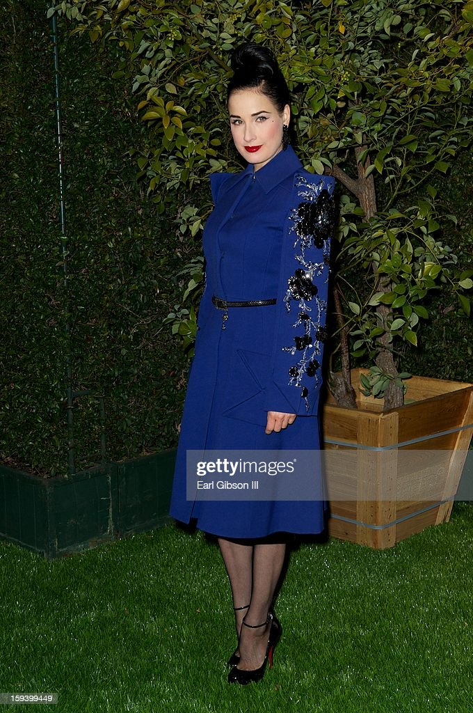 Dita Von Tesse attends the LoveGold party at Chateau Marmont on January 12, 2013 in Los Angeles, California.