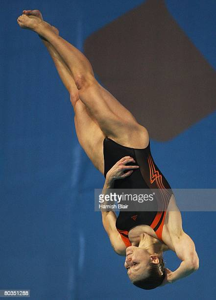 Ditte Kotzian of Germany in action in the final of the Women's 3m Springboard during day eleven of the 29th LEN European Championships for Swimming...