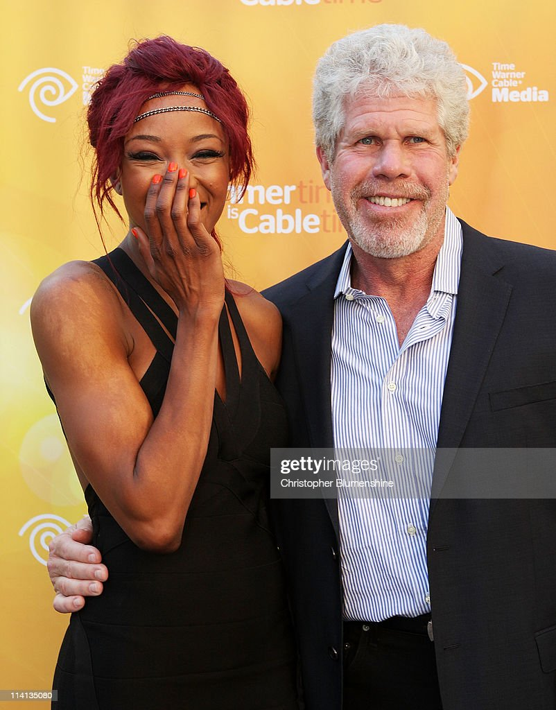 WWE Diva Alicia Fox and actor Ron Perlman attend the Time Warner Cable Media Upfront Event 'Summertime Is Cable Time' on May 12, 2011 in Dallas, Texas.