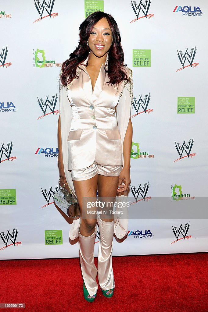 Diva Alicia Fox attends WWE Superstars for Sandy Relief at Cipriani, Wall Street on April 4, 2013 in New York City.