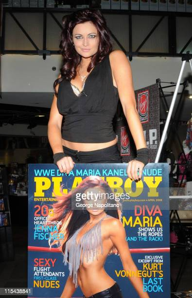 WWE Diva and Playboy model Maria appears on March 6 2007 at Virgin Megastore in Times Square New York City