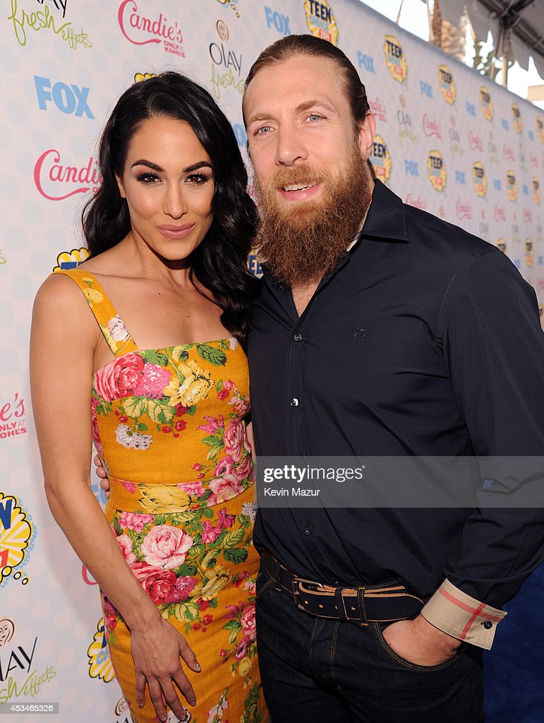Diva Brie Bella and WWE Superstar Daniel Bryan attend FOX's 2014 Teen Choice Awards at The Shrine Auditorium on August 10 2014 in Los Angeles...