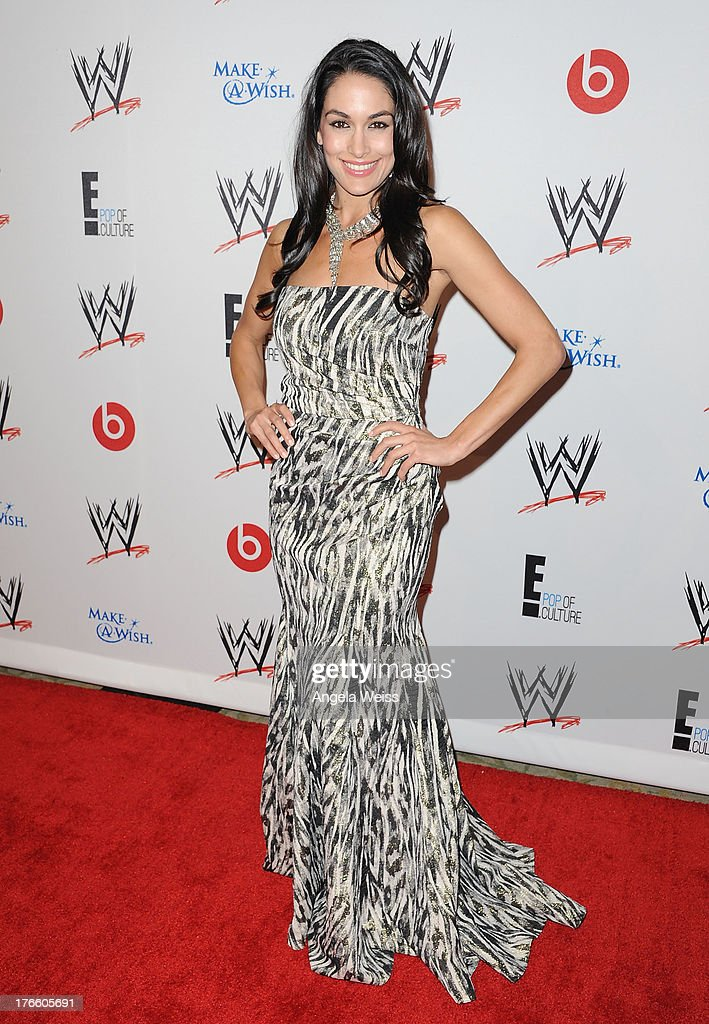 Diva Brie Bella arrives at WWE and E! Entertainment's 'Superstars For Hope' at Beverly Hills Hotel on August 15, 2013 in Beverly Hills, California.