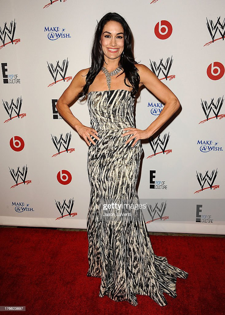 Diva Brie Bella attends the WWE SummerSlam VIP party at Beverly Hills Hotel on August 15, 2013 in Beverly Hills, California.