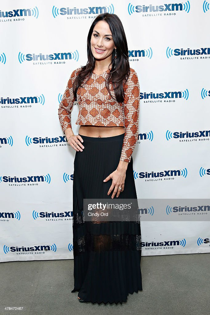 Diva Brie Bella visits the SiriusXM Studios on March 13, 2014 in New York City.