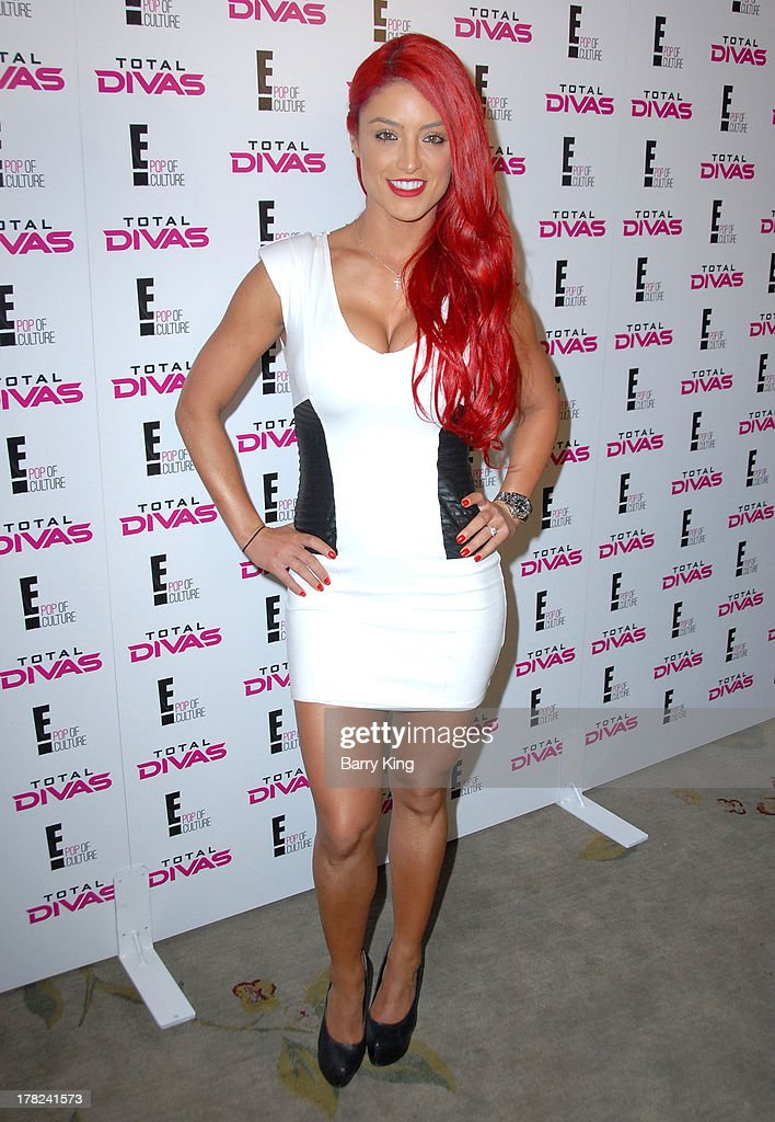 Diva Eva Marie (aka Natalie Eva Marie Nelson attends the WWE SummerSlam Press Conference on August 13, 2013 at the Beverly Hills Hotel in Beverly Hills, California.