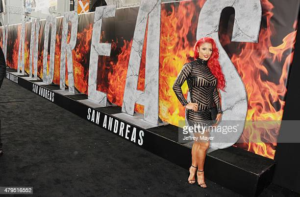 Diva Eva Marie arrives at the 'San Andreas' Los Angeles Premiere at TCL Chinese Theatre IMAX on May 26 2015 in Hollywood California