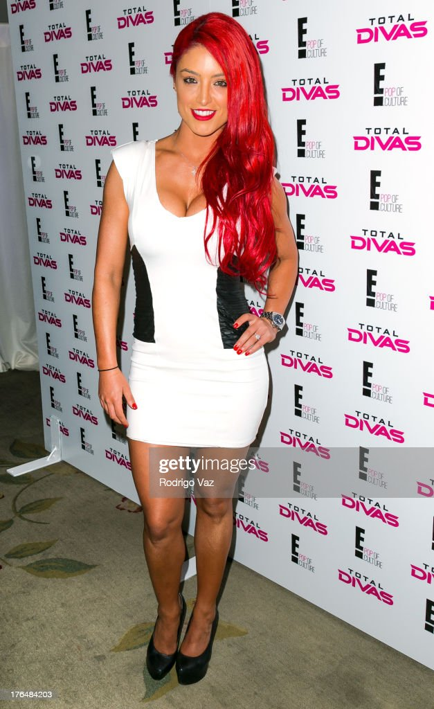 Diva Eva Marie attends the WWE SummerSlam Press Conference at Beverly Hills Hotel on August 13, 2013 in Beverly Hills, California.