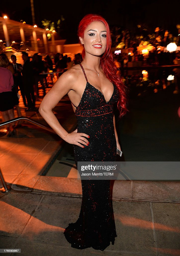 Diva Eva Marie attends WWE & E! Entertainment's 'SuperStars For Hope' at the Beverly Hills Hotel on August 15, 2013 in Beverly Hills, California.