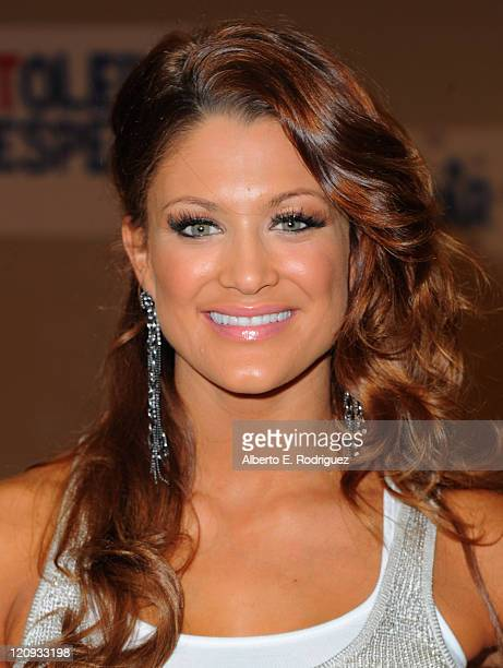 WWE 'Diva' Eve Torres attends the WWE and The Creative Coallition's Rally to support the 'be a star' AntiBullying Alliance on August 12 2011 in Los...