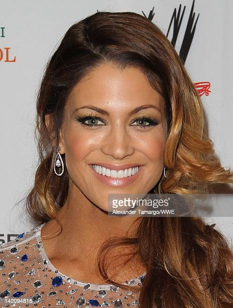 Diva Eve Torres attends WrestleMania Premiere Party A Celebration of Miami Art and Fashion on March 29 2012 in Miami Beach Florida