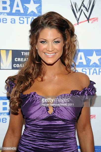 WWE Diva Eve Torres attends WWE's and Creative Coalition's 'be A STAR' Summer Event hosted by Kellan Lutz at the Andaz Hotel on August 11 2011 in...