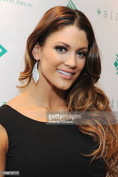 Diva Eve Torres poses with Silpada at Kari Feinstein's Oscars Style Lounge at Mondrian Los Angeles on February 23 2012 in West Hollywood California