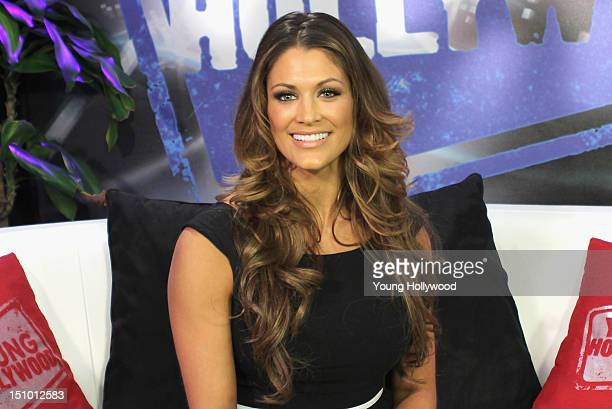 WWE Diva Eve Torres visits the Young Hollywood Studio on August 30 2012 in Los Angeles California