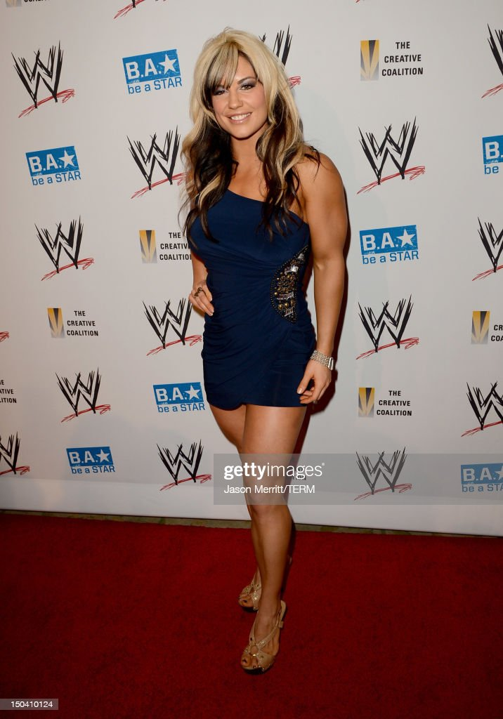 Diva Kaitlyn attends the WWE SummerSlam VIP Kick-Off Party at Beverly Hills Hotel on August 16, 2012 in Beverly Hills, California.