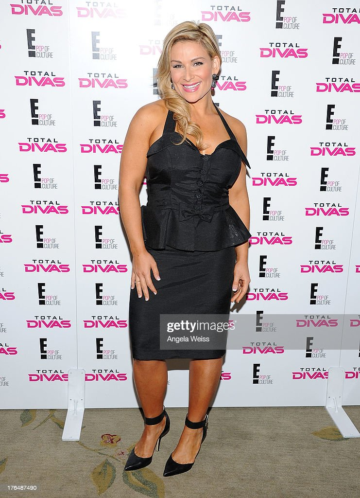 Diva Natalya attends the WWE SummerSlam press conference at Beverly Hills Hotel on August 13, 2013 in Beverly Hills, California.