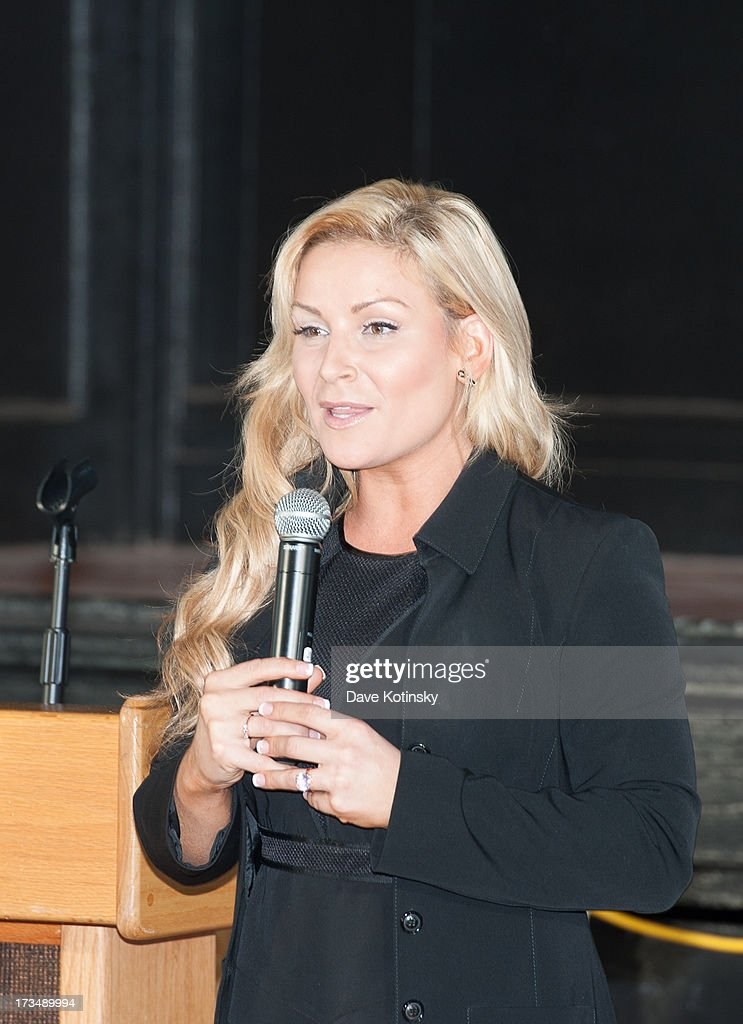 Diva Natalya delivers an anti-bullying message at Ironbound Boys And Girls Club on July 15, 2013 in Newark, New Jersey.