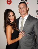 Diva Nikki Bella and wrestler John Cena attend the WWE SummerSlam VIP party at Beverly Hills Hotel on August 15 2013 in Beverly Hills California