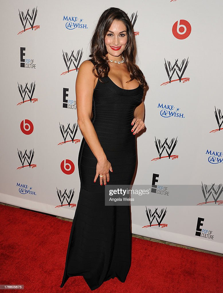 Diva Nikki Bella arrives at WWE and E! Entertainment's 'Superstars For Hope' at Beverly Hills Hotel on August 15, 2013 in Beverly Hills, California.