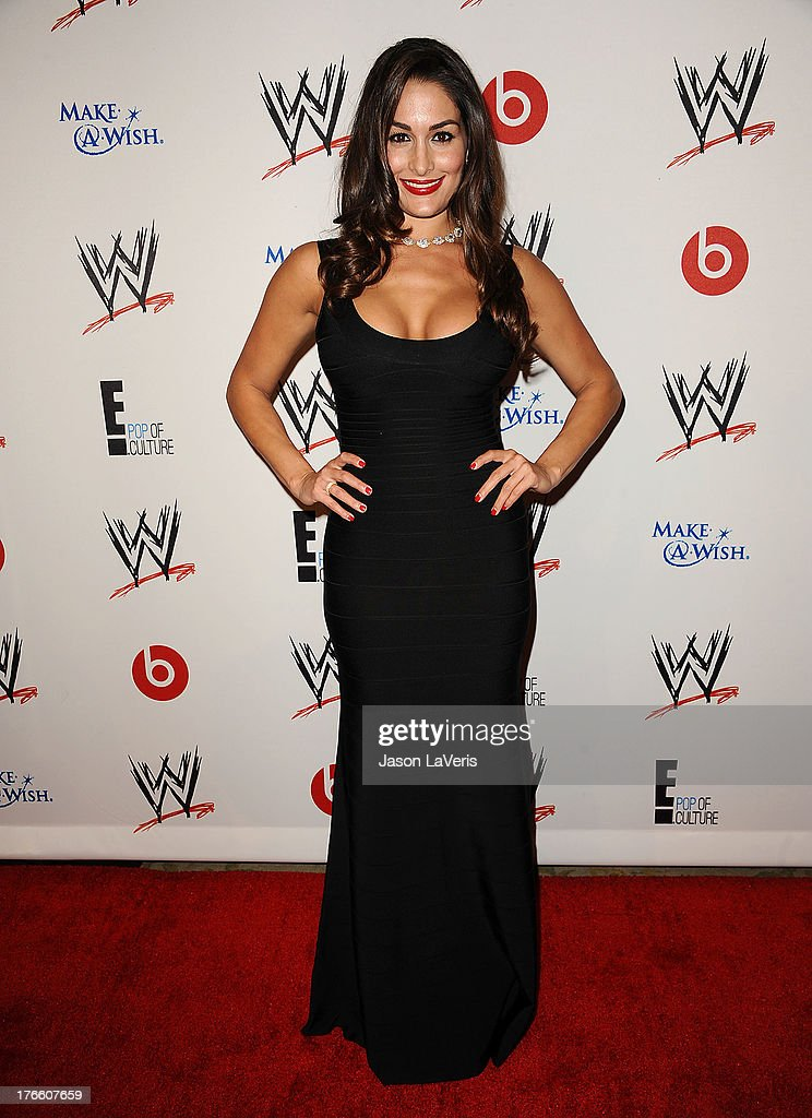 Diva Nikki Bella attends the WWE SummerSlam VIP party at Beverly Hills Hotel on August 15, 2013 in Beverly Hills, California.