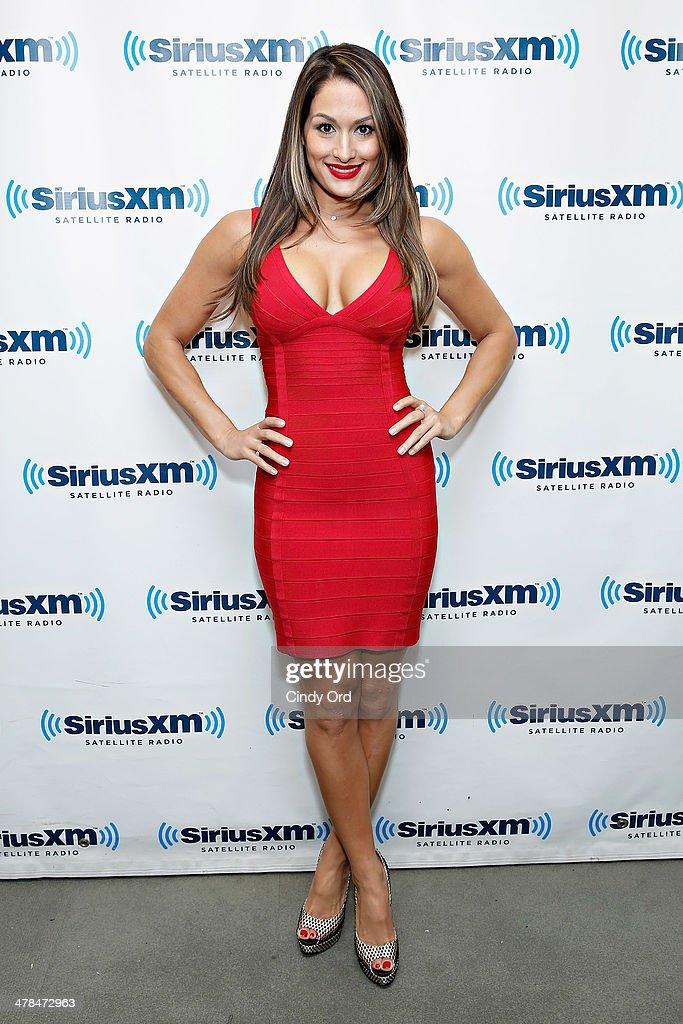 Diva Nikki Bella visits the SiriusXM Studios on March 13, 2014 in New York City.