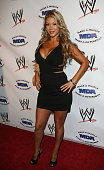Diva Rosa Mendes arrives for the WWE SummerSlam KickOff Party at Tropicana Bar at The Hollywood Rooselvelt Hotel on August 13 2010 in Hollywood...