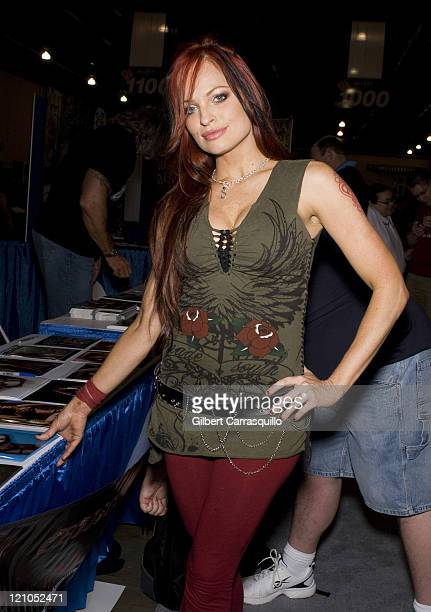Diva/Model Christy Hemme attends the Wizard World Philadelphia 2008 Convention at the Pennsylvania Convention Center on May 30 2008 in Philadelphia...