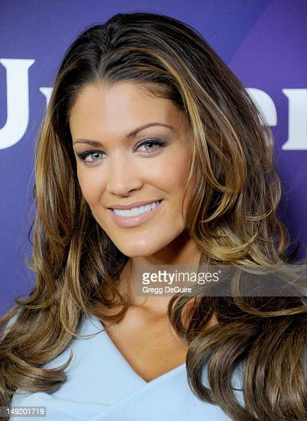 WWE diva/model Eve Torres arrives at the 2012 NBC Universal TCA summer press tour at The Beverly Hilton Hotel on July 24 2012 in Beverly Hills...