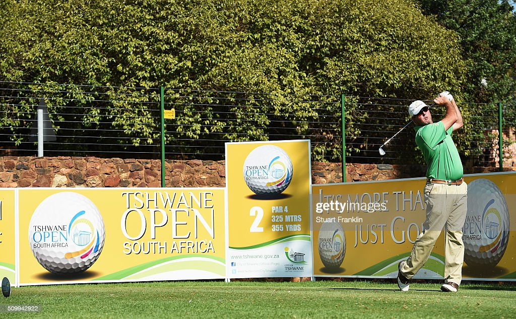 Divan Van Den Heever of South Africa plays a shot during the third round of the Tshwane Open at Pretoria Country Club on February 13, 2016 in Pretoria, South Africa.