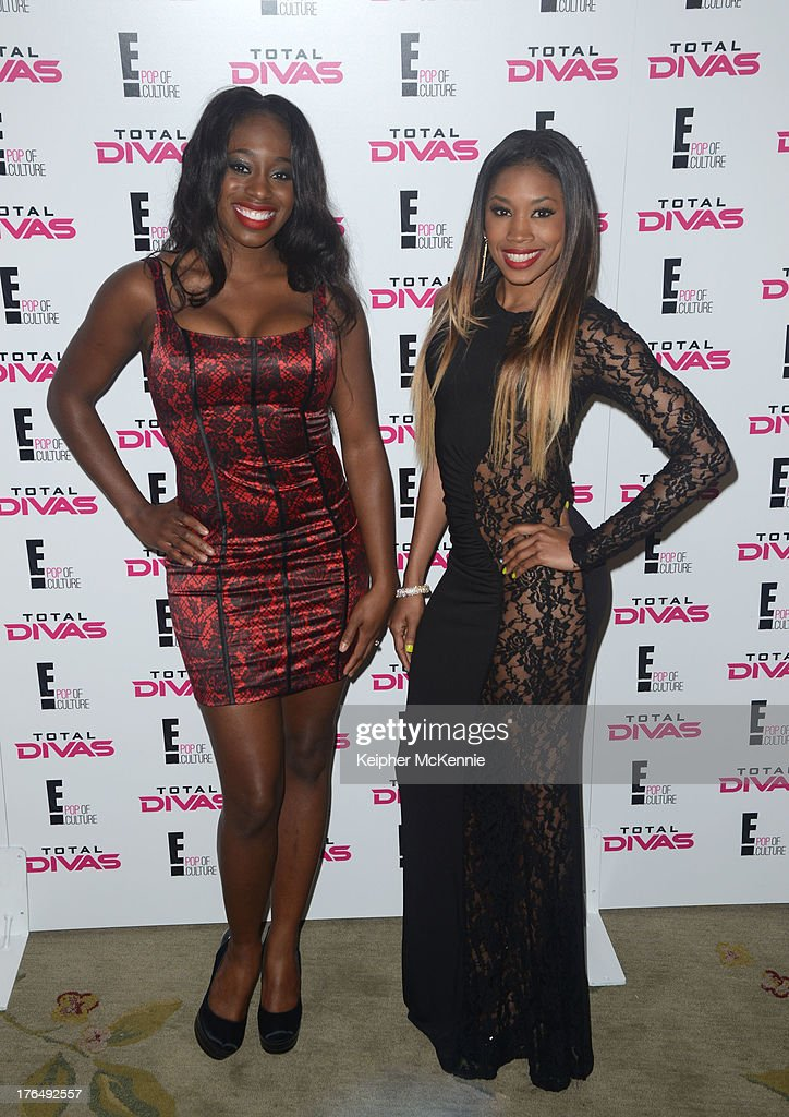 WWE Divas Naomi and Cameron arrive to the WWE SummerSlam press Conference at Beverly Hills Hotel on August 13, 2013 in Beverly Hills, California.