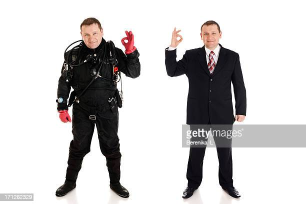 Diver and  businessman