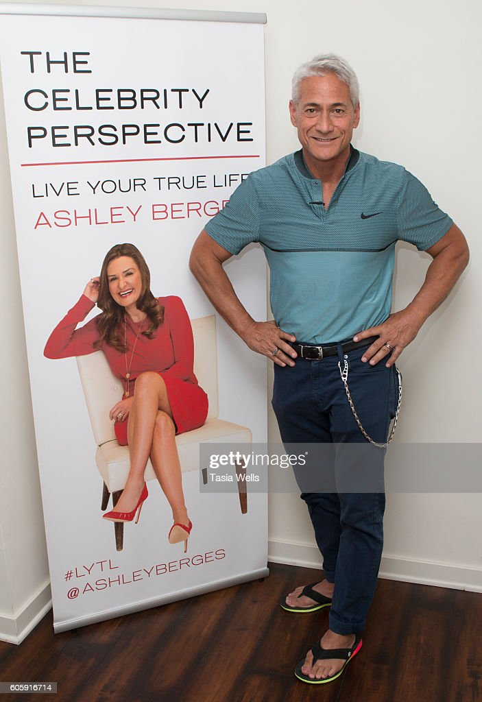 Diver and Olympic gold medalist Greg Louganis poses for portrait on the set of The Celebrity Perspective hosted by Ashley Berges on September 14, 2016 in North Hollywood, California.
