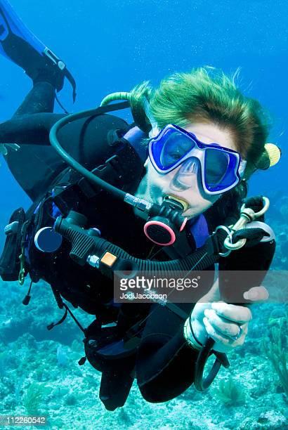 diver demonstrating scuba diving skills