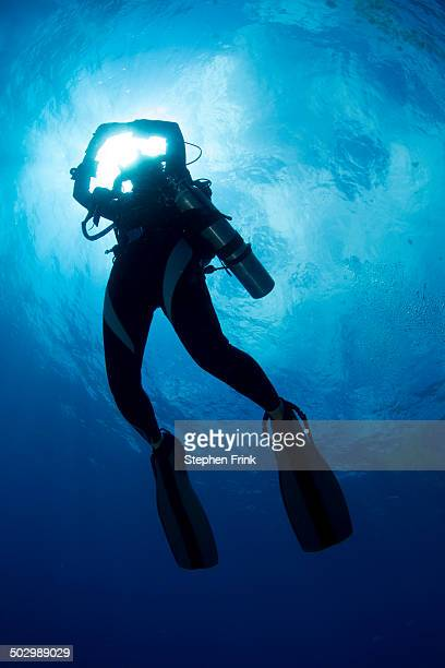 Diver heads into 'underspace'.