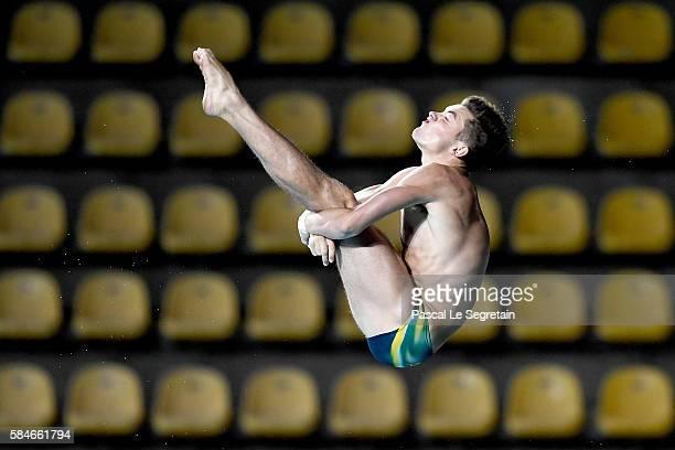 Diver James Connor of Australia practices at Maria Lenk Aquatics Centre on July 29 2016 in Rio de Janeiro Brazil