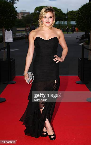Diver Melissa Wu poses on the red carpet before the 2013 NSWIS Awards at Royal Randwick Racecourse on November 21 2013 in Sydney Australia