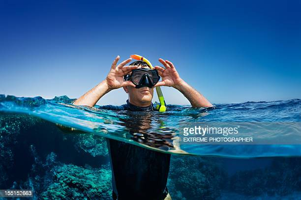 Diver on snorkeling