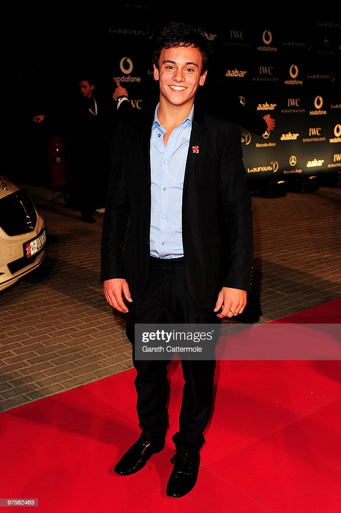 Diver Tom Daly attends the Laureus Welcome Party part of the Laureus Sports Awards 2010 at the Fairmount Hotel on March 9,2010 in Abu Dhabi,United Arab Emirates.